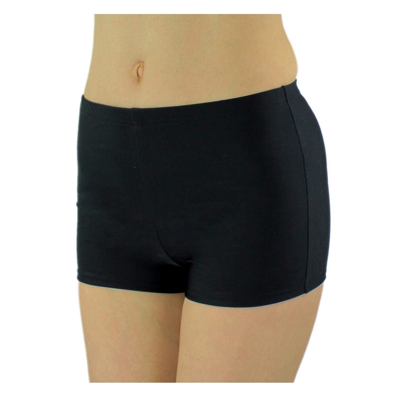 Aquarti Damen Badeshorts Hotpants Unifarben Gemustert
