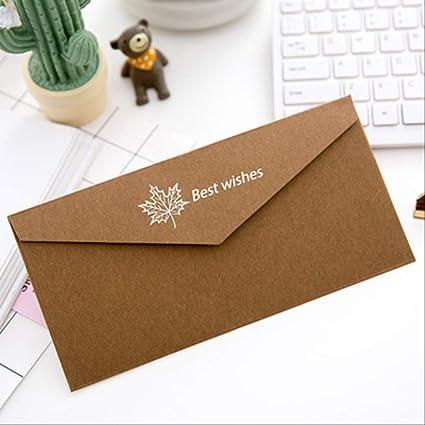 20 Unids/set Sobres de papel Kraft Sobre de regalo para ...