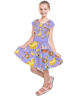 e9ac876e80d93 PattyCandy Girl's Dress Up Dog Footprint Easter Animals Cartoon Sketch &  Rocket Toddler Kids Short Sleeve