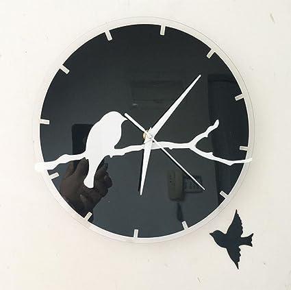 Relojes creativos, pegatinas de pared reloj de pared, reloj digital, estudiante de moda