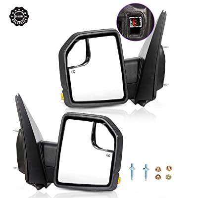 Ineedup Tow Mirrors Rearview Mirrors Fit for 2015-2020 Ford F150 with Left Right Side Power Operation Heated with Turn Signal Light: Automotive