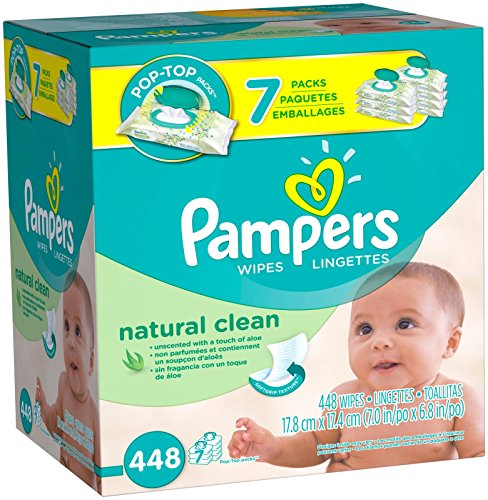 Pampers Piece Natural Clean Wipes product image