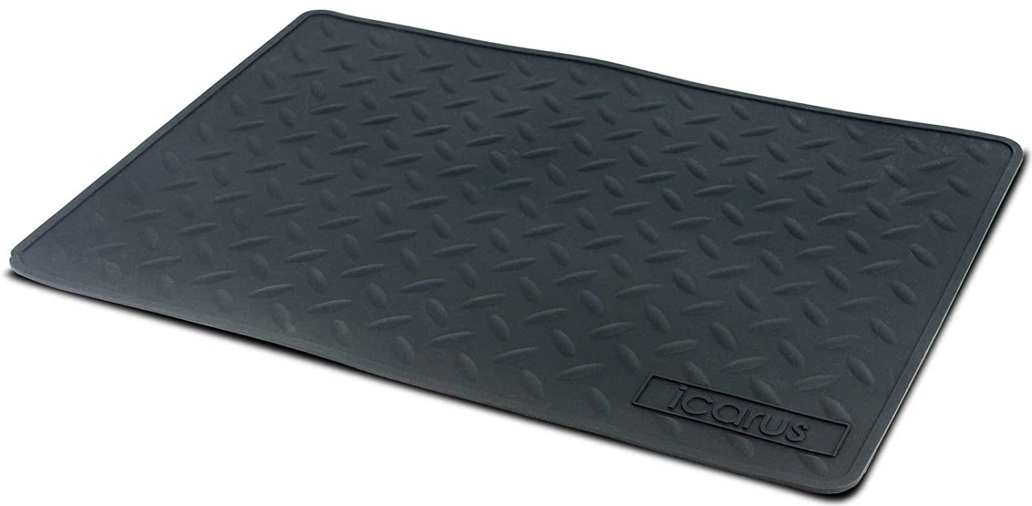 "Icarus Silicone Heat Resistant Mat, Heat Proof Hot Tool Appliance Station Mat, 16"" x 11"""