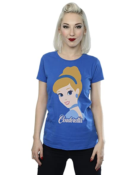 d79a53cee54 Disney Women s Princess Cinderella Silhouette T-Shirt X-Small Royal Blue