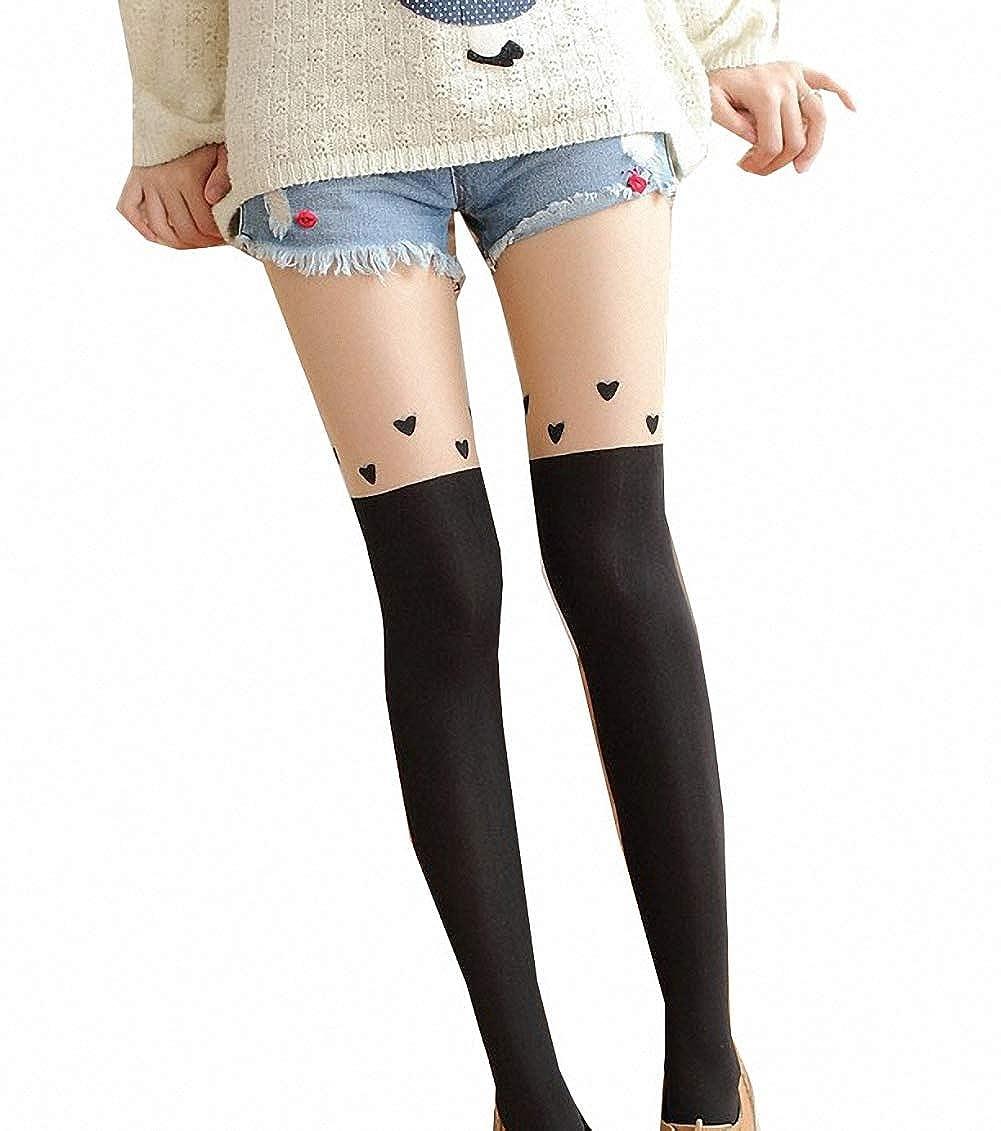 AmerStar Cat Stockings Pantyhose Cartoon Bunny Socks Mock Knee Nude High Thigh Tights