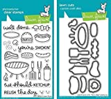 Lawn Fawn Let's BBQ Clear Stamp and Die Set - Includes One Each of LF889 (Stamp) & LF890 (Die) - Bundle Of 2