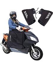 Protector de piernas con Forro Polar de Invierno para Moto para Scooter y Guantes de Invierno