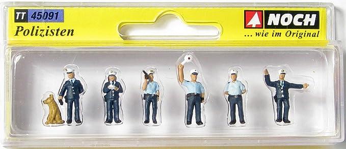 Noch - 45091 - Modélisme - Matériaux De Surface - Agents De Police - 6 Figurines + Accessoires