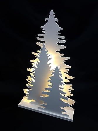 /Blanc WeRChristmas Renne Table D/écoration de No/ël Bois 25/cm/