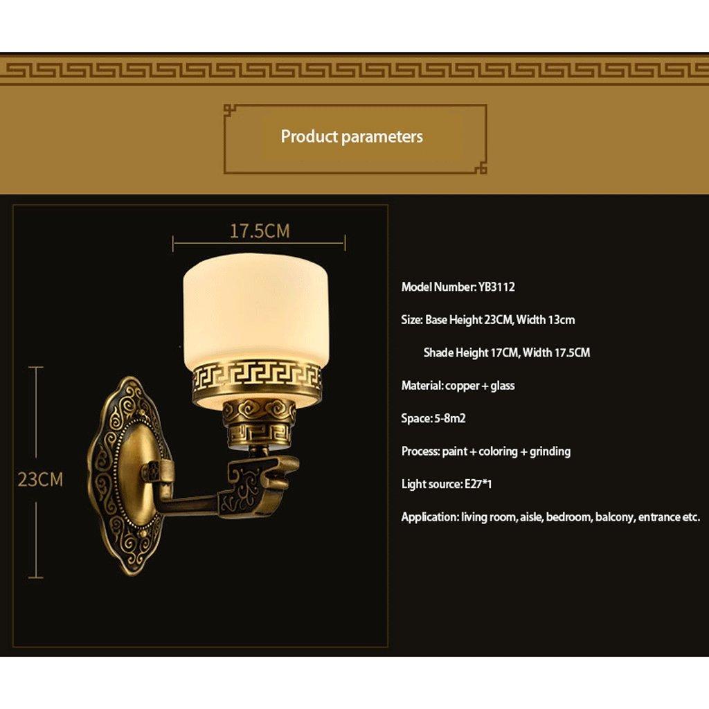GCX-Wandleuchte Kupfer Wandleuchte Schlafzimmerleuchten Innenwandleuchte Nachttisch Ganglicht Dekorative Lichter