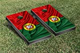 Country Rippled Flag Cornhole Game Set Country: Portugal