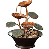 Bits and Pieces - Indoor Water Lily Water Fountain-Small Size Makes This A Perfect Tabletop Decoration - Compact and…