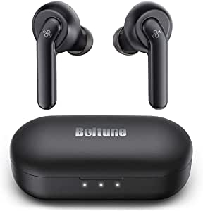 Wireless Earbuds Active Noise Cancelling, Bluetooth Earbuds with 4 Mics, Smart Noise Reduction for Clear Calls, Enhanced Deep Bass, IPX8 Waterproof, USB-C Quick Charging Case