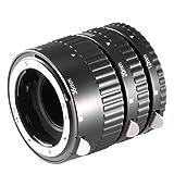 Neewer 12mm, 20mm, 36mm Black Auto Focus Macro Extension Tube Set for Nikon SLR cameras and Nikkor AF, AF-S, D, G and VR lens series (Metal)
