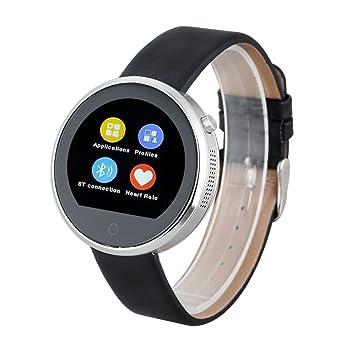 LEMFO DM360 - Ajustable Smartwatch Reloj Bluetooth (IPS 1.22, Impermeable, Siri, Podometro, Ritmo Cardíaco, Monitor de Sueño, Anti-Perdida, Para IOS ...