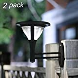 Maggift 33X Brighter Solar Wall Lights Solar Lights Solar Powered Wall Lamps Solar LED Wall Lights Outdoor for Yard Garden Driveway Pathway Pool Tree Patio, 40 Lumens, Set of 2
