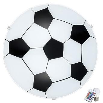 Fussball Decken Wand Lampe Dimmbar Fernbedienung Kinder