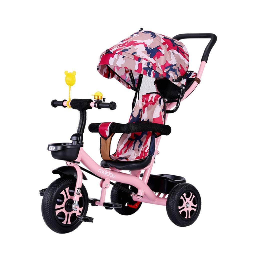 Bicicletta da Bambino a 3 Ruote per 1-3-6 Anni (Ragazzo Ragazza) Bicicletta da Bambino Pieghevole 3-in-1 Multifunzione Triciclo per Bambini Recinzione di Sicurezza Passeggini per Bambini Toddler Tri