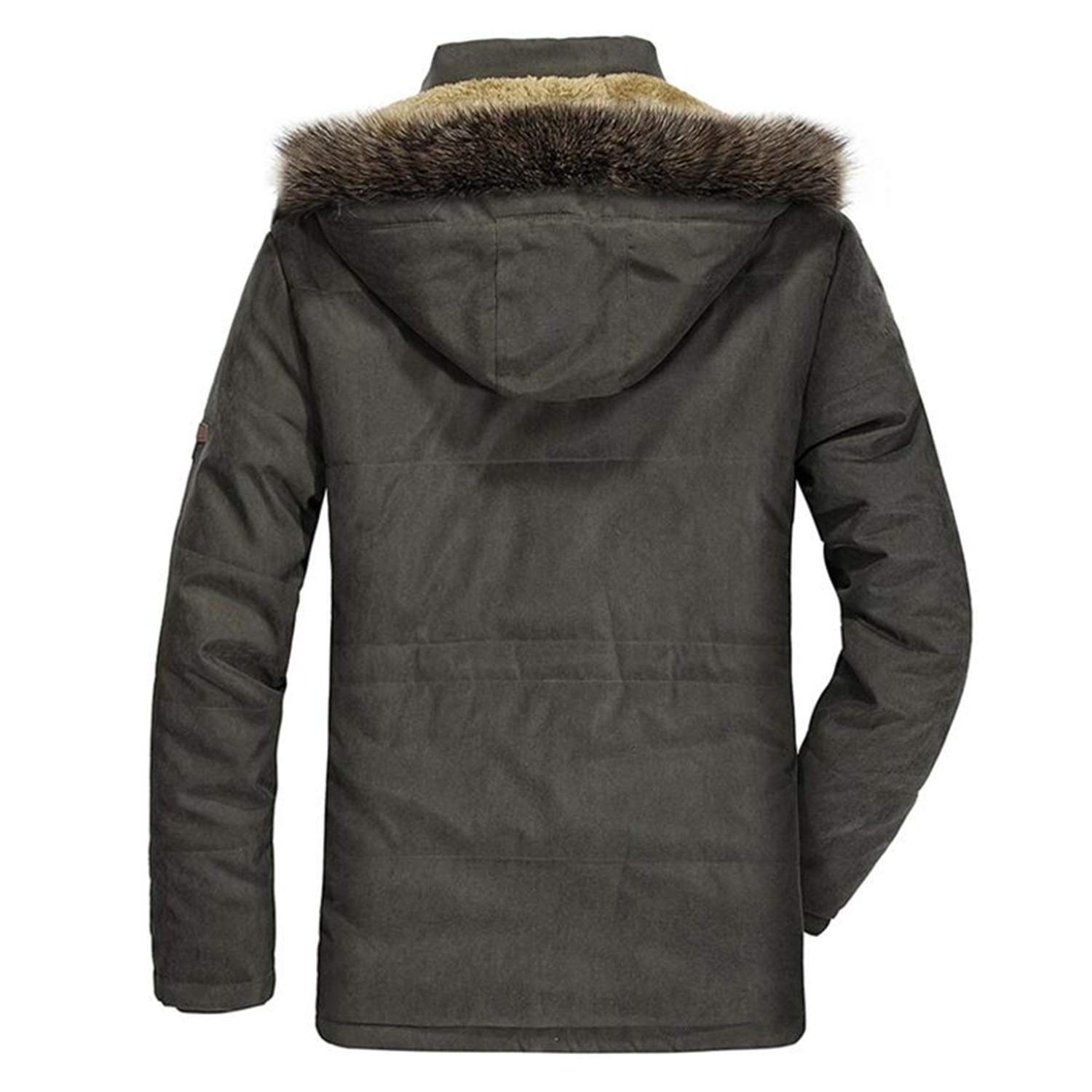 Military Winter Jacket Men Casual Thicken Cotton Padded Parka Long Hooded Coat