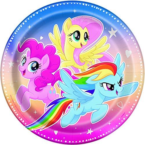 Unique Industries My Little Pony Paper Plates Disposable (8 Piece)