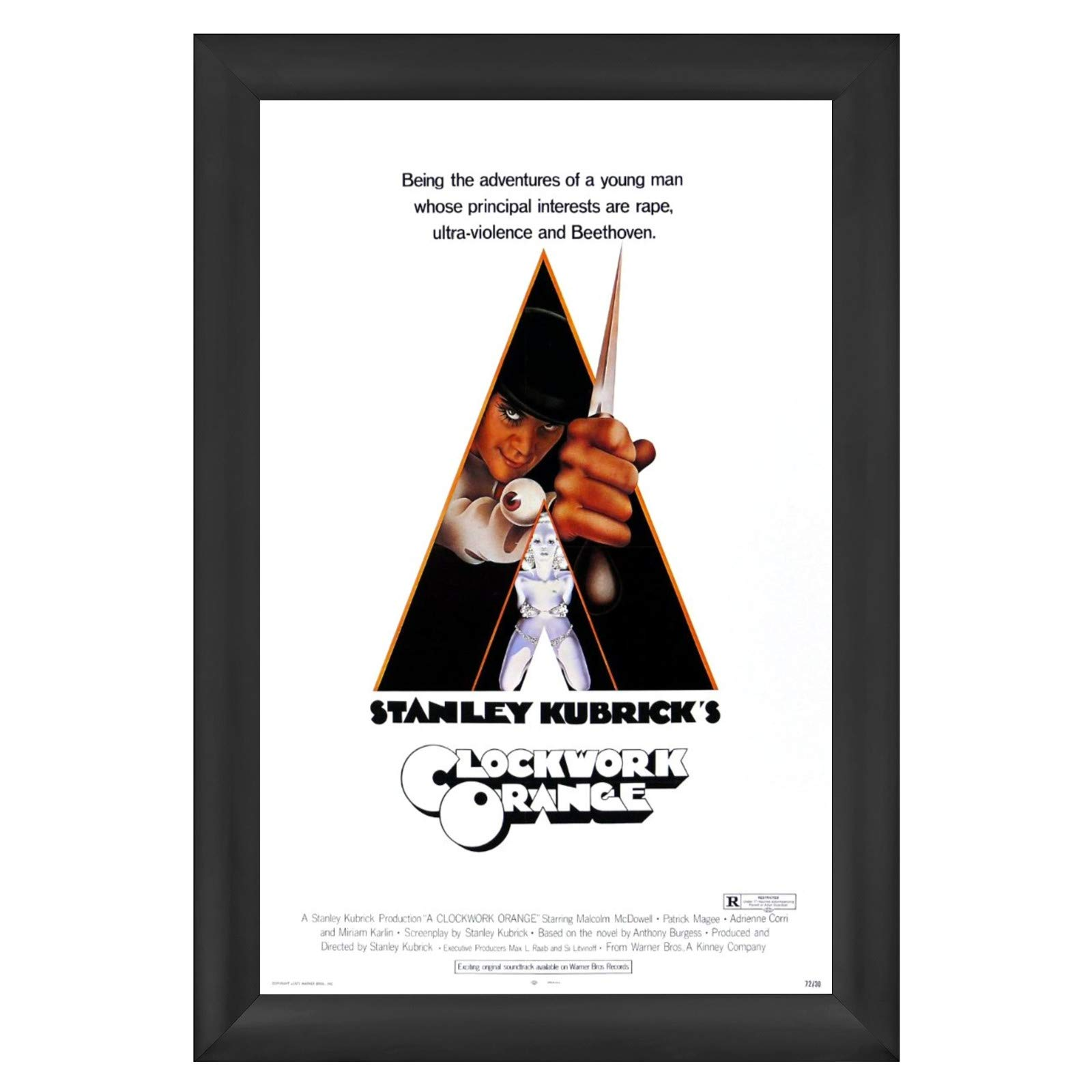 SnapeZo Poster Frame 27x41 Inches, Black 2.2 Inch Super-Wide Series Aluminum Profile, Front-Loading Snap Frame, Wall Mounting, Super-Wide Series