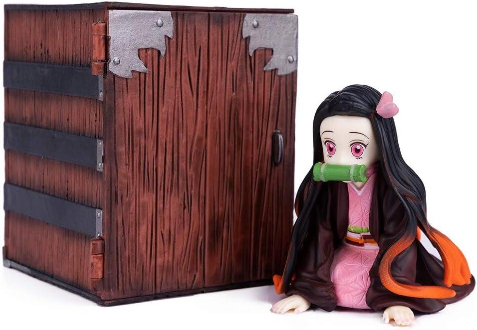 2hao1 3pcs Demon Slayer Kimetsu sans Yaiba Figurine Nezuko Tanjiro Figurine Qposket D/écoration D/écorations PVC Figurine