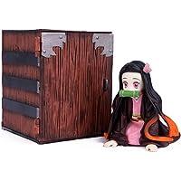 Demon Slayer: Kimetsu No Yaiba Action Figure GK Kamado Nezuko Figure Statue Figurine Model Doll Cute Collection Birthday…