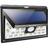 Hardoll 24 LED Outdoor Motion Sensor Solar Lights Wide Angle Design With 3 LEDs Both Side For Driveway