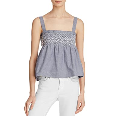 dd74c661a2cb4 Image Unavailable. Image not available for. Color  Current Elliott  The  Smocked Tank  Top ...