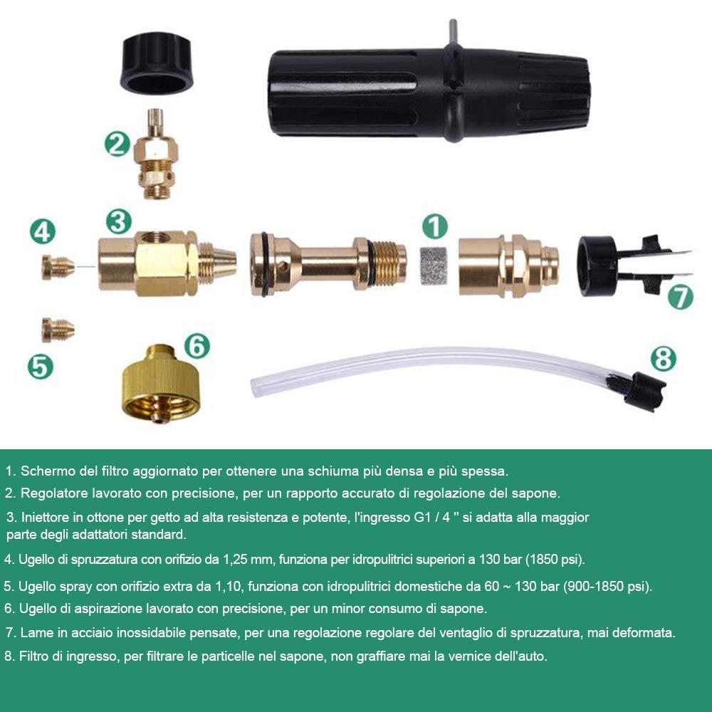 Lavadora A Presión Jet lavado Nieve Espuma Lance Bosch /& Portotecnica