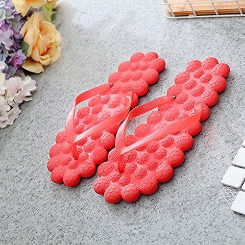 Donyyyy Cool zapatillas, masajes verano zapatillas, la mujer del fondo plano calzado de playa. Thirty-seven