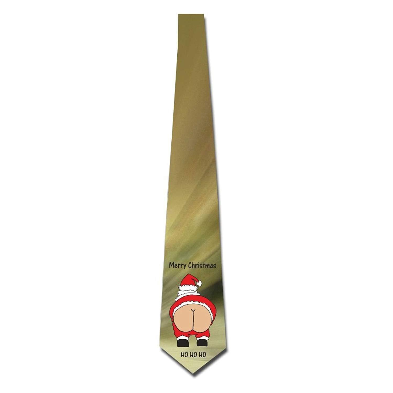 Men's Printed Floral Neck Tie Merry Christmas Ugly Santa Elegant Cap shorts