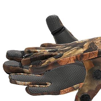 g8ds/® Neopren Angel Handschuhe CAMO M-XL Angler Fingerspitzen zum /Öffnen