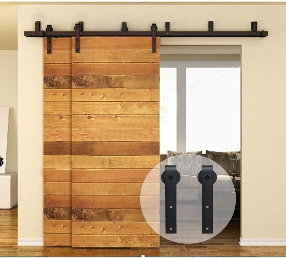 ccjh soporte de estilo deslizante de granero madera armario doble ...