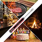 Boncas Candle Lighter, Large Capacity Windproof USB Lighter, Plasma Arc Lighter with Long Flexible Neck and Battery Display for Lighting Candles, Camping, BBQ, Fireworks Red