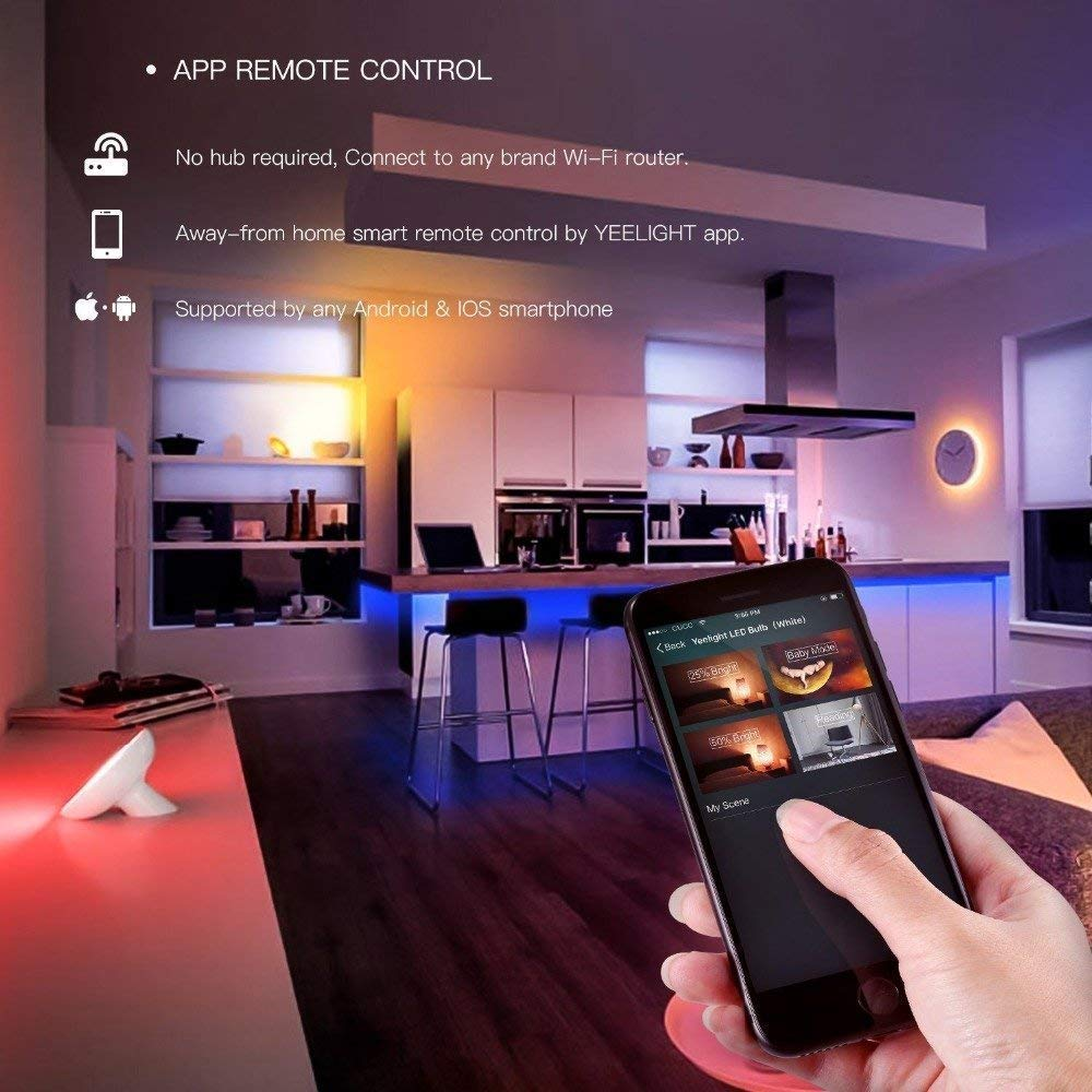 YEELIGHT Lightstrip Plus,16 Million Colors WiFi RGB Strip for Mi Home APP,  Smart Phone Control, Compatible with Alexa, Google Assistant Remote Voice