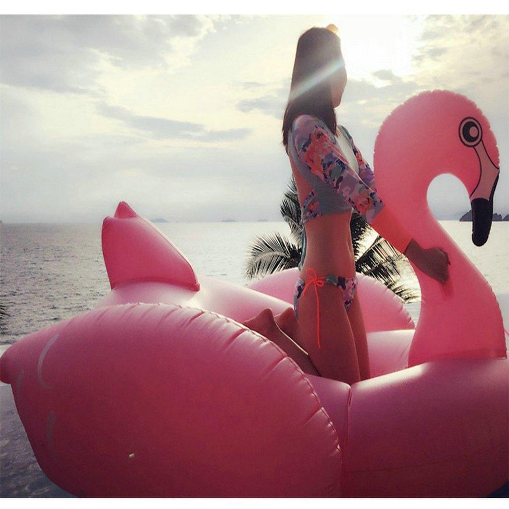 Riesiger Aufblasbarer Flamingo Luftmatratzen Aufblasbarer Flamingo Pool Floß 190X200X130CM Floatie Für Ihre Entspannenden Beach & Lake Days (Flamingo 200cm)