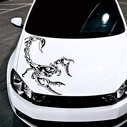 7e1bde581 Image Unavailable. Image not available for. Color: Car Decals Hood Decal  Vinyl Sticker Scorpio Tribal ...
