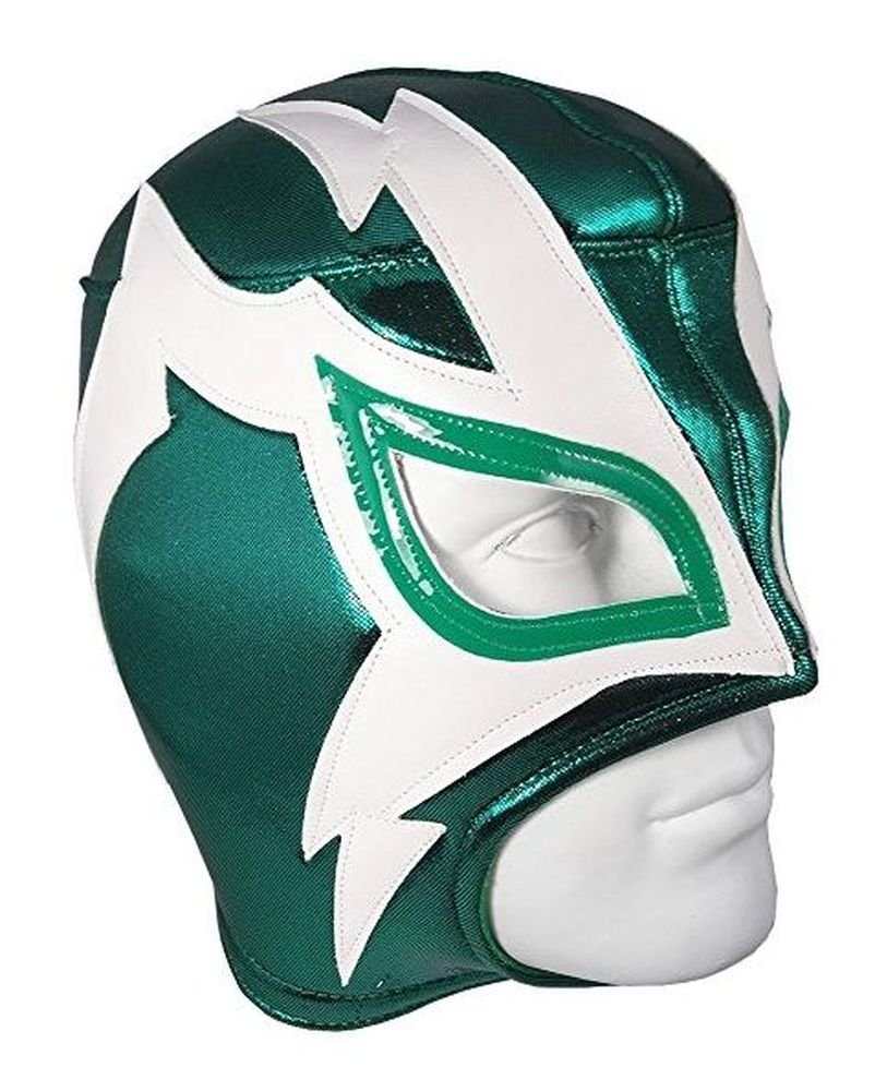 Del Mex Lucha Libre Adult Luchador Mexican Wrestling Mask Costume (Shocker (Green/White))