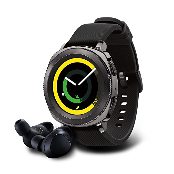Samsung Gear Sport Smartwatch with Gear IconX Fitness Earbuds - Black