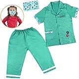 Disfraz Medico Niña Niño,Disfraz Enfermera Veterinaria Halloween Accesorios Maletin Medicos Juguete Doctora Niños