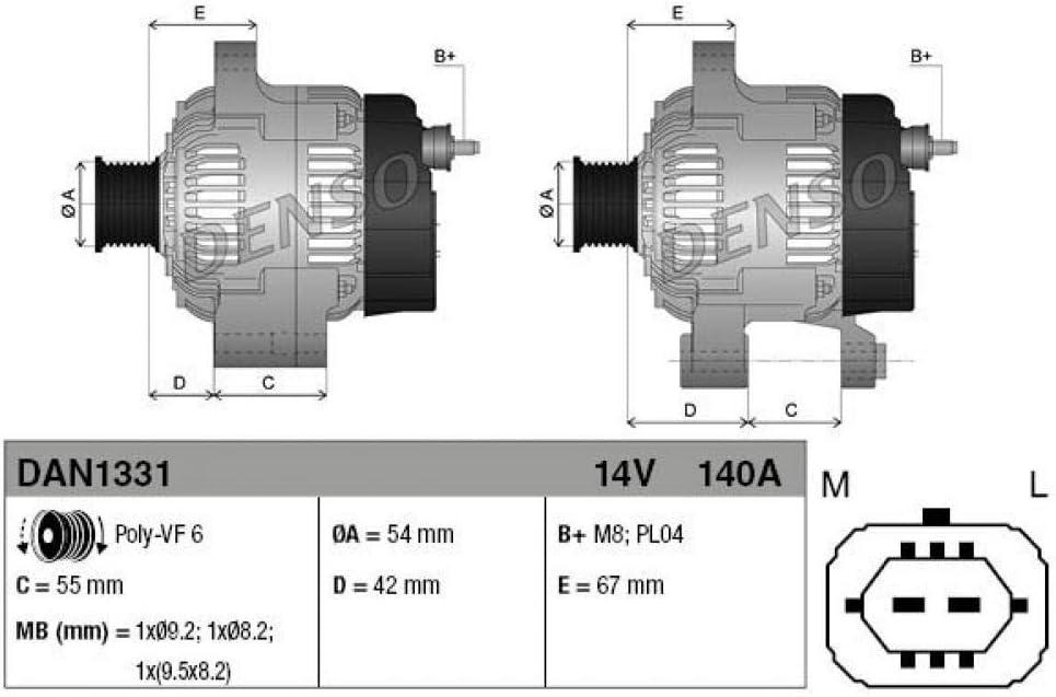 Denso Dan1331 Generator Lima Generator Dynamo Auto