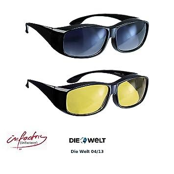 infactory Überziehbrille Damen: Schärfer-Sehen-Set mit 2 Überziehbrillen Day Vision & Night Vision (Nachtsichtbrille) tRZSOIBz2y