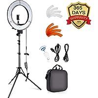 SAMTIAN Ringlicht/Ringleuchte 18 Zoll mit Stativ, Kamera Video Foto Ringlicht 18 Zoll / 48 Zentimeter Durchmesser/ 55W/ 5500K Dimmbares LED-Ringlicht, Bluetooth-Empfänger