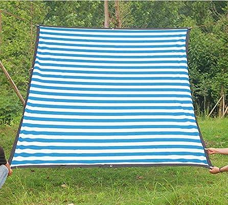 Adobe Abs - Pérgola resistente a los rayos UV, resistente al viento, resistente al sol, para invernadero, sombra de privacidad y tela para plantas de jardín, 22 tamaños, color azul, 6.5*22.9ft(2*7m): Amazon.es: