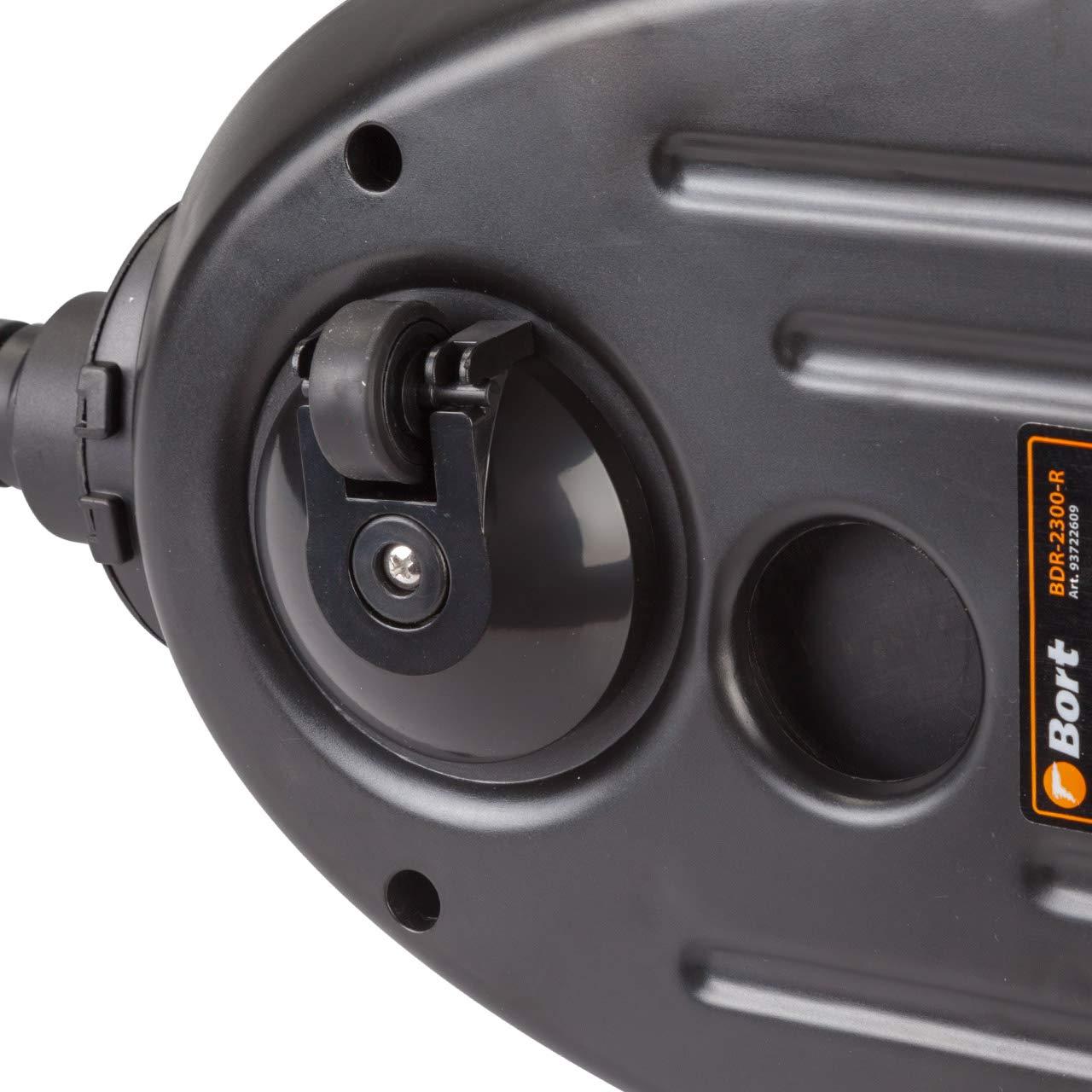 Fliesen f/ür Bad 30min kontinuierliche Nutzung 1,5l Wassertank Bort Dampfreiniger BDR-2300-R mit 14 Zubeh/örteilen Boden 2100 W Teppich Autositze 1,5m Schlauch