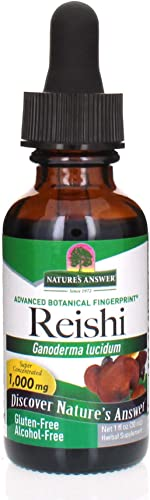 Nature s Answer Alcohol-Free Reishi Fruiting Body, 1-Fluid Ounce