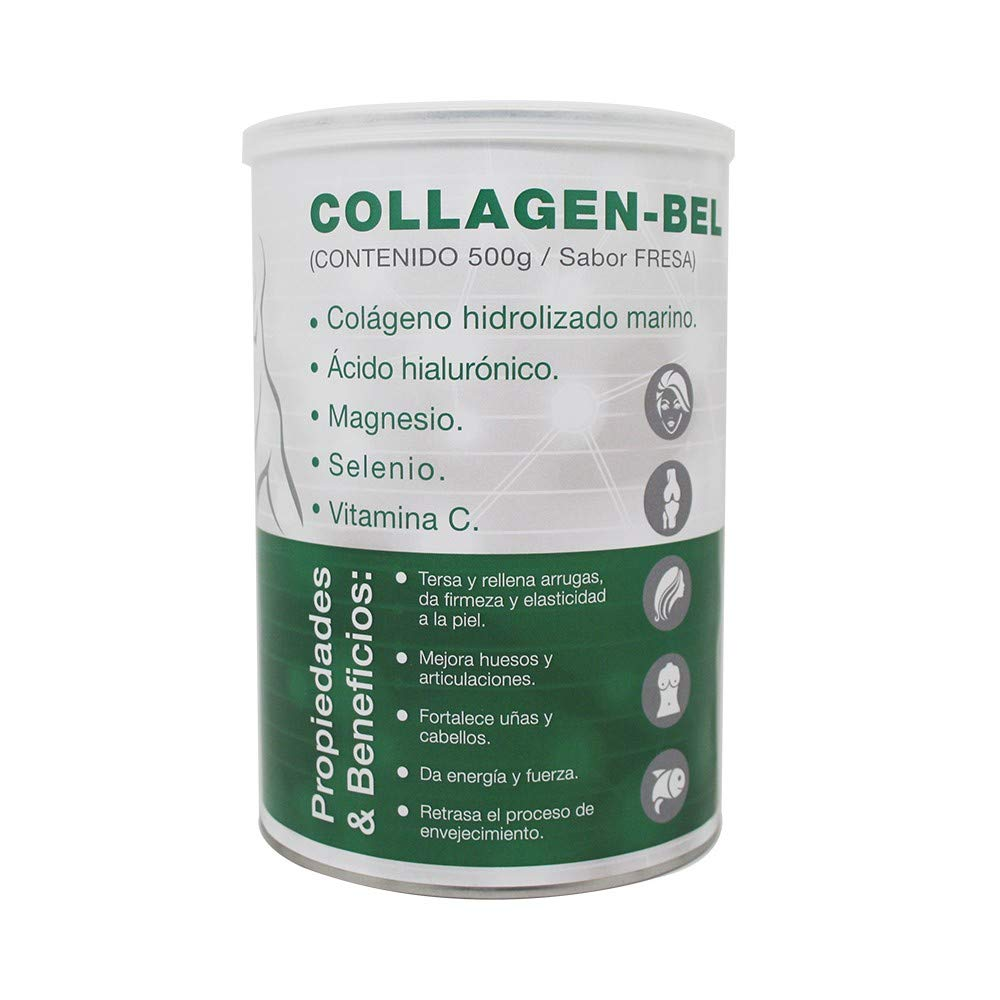 Collagen Bel 500 gramos Fresa Nutribel: Amazon.es: Salud y cuidado ...