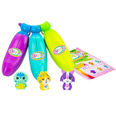 Bananas  Collectible Toy 3-Pack Bunch (Blue, Green, Purple - Series 1) by Cepia (Styles May Vary)