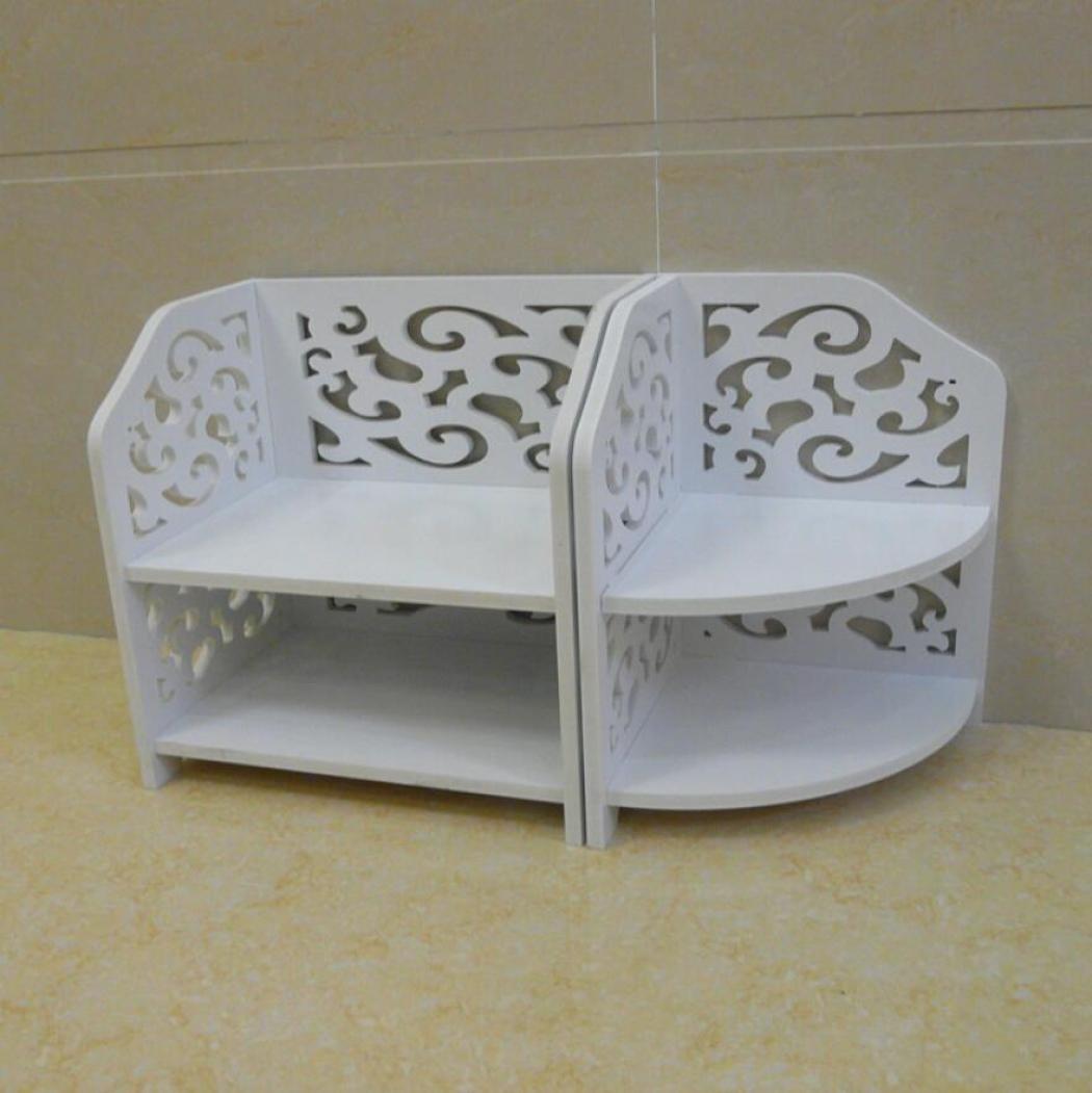 GL&G Combination rack , Storage rack bedside tables debris planes, Cosmetic storage rack Waterproof bathroom shelves,A
